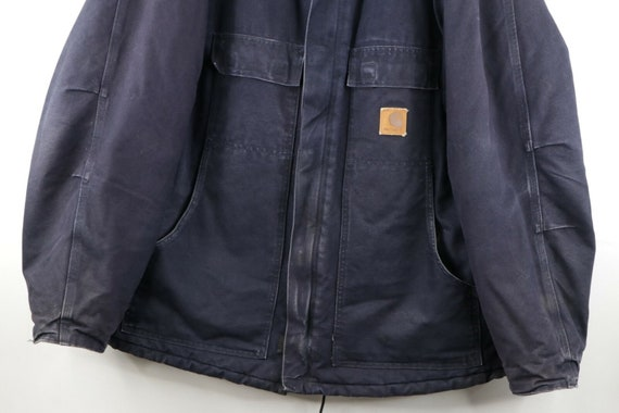 90s Carhartt Mens 2XL Spell Out Corduroy Collar D… - image 3