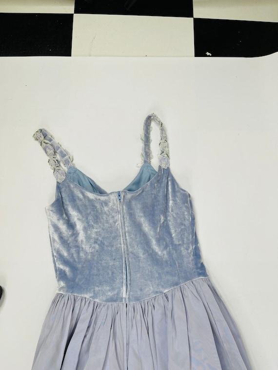 90s Jessica McClintok Gunne Sax Womens 7/8 Blue R… - image 8