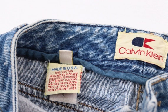 80s Calvin Klein Womens 9 Distressed Faded Straig… - image 7