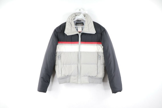 80s Streetwear Mens Small Striped Color Block Skii
