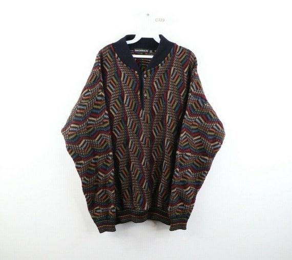 90s Streetwear XL Ed Bassmaster Multicolor Striped