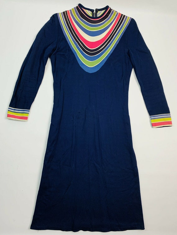 Vintage 60s 70s Psychedelic Go-Go Dress, 1960s Psy