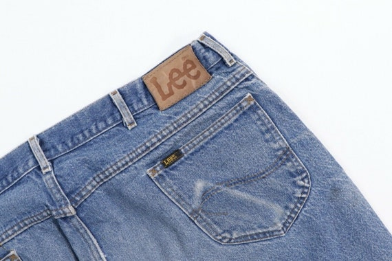 80s Lee Mens 38x29 Straight Leg Thrashed Distress… - image 6