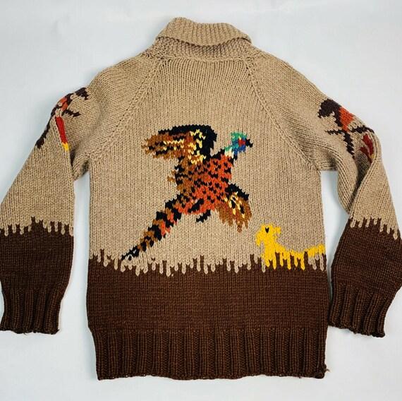 Vintage 1940s Mens Small Handknit Wool Cawichan Ca