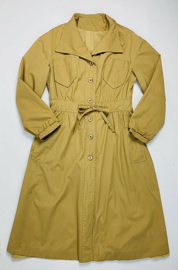 Vintage 50s 60s Medium Shirt Dress, Vintage 1950s