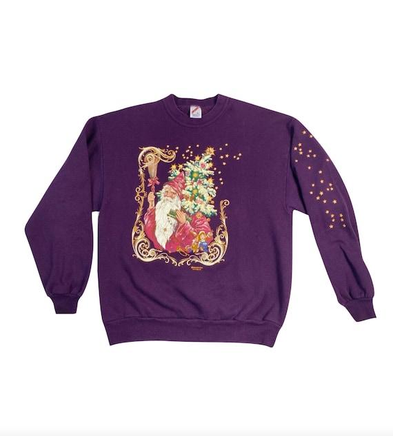 90s Streetwear Mens Large Christmas Santa Distress