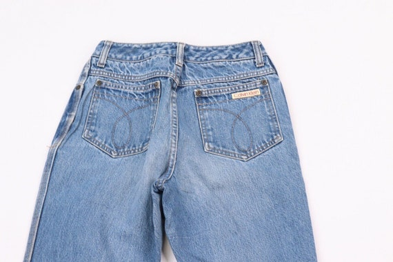 80s Calvin Klein Womens 9 Distressed Faded Straig… - image 9