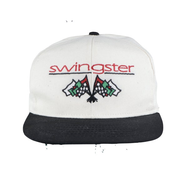 NOS 90s Swingster Spell Out Flags Raw Cotton Snapb
