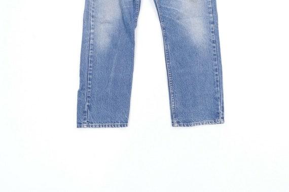 80s Lee Mens 36x28 Straight Leg Thrashed Distress… - image 3