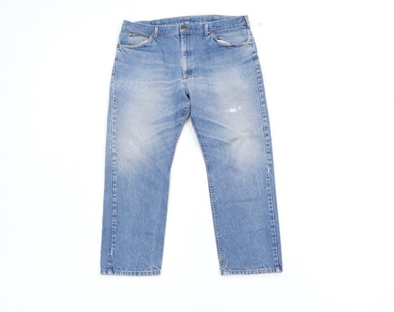 80s Lee Mens 38x29 Straight Leg Thrashed Distress… - image 1