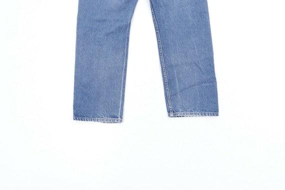 80s Lee Mens 36x28 Straight Leg Thrashed Distress… - image 9