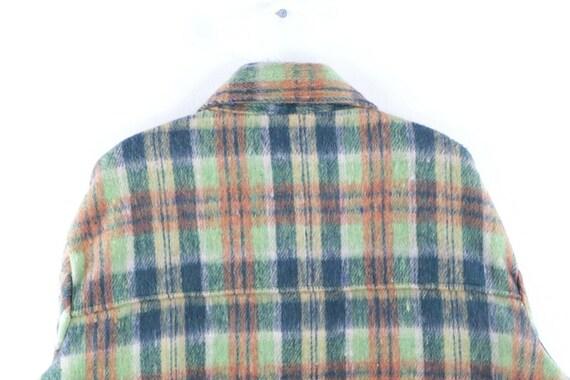 60s Mens Large Wool Double Pocket Multi-Color Pla… - image 6