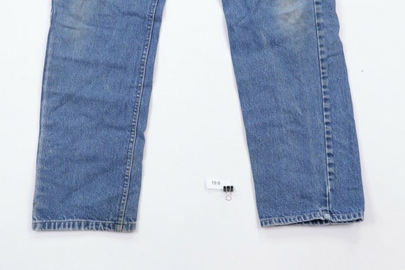 80s Lee Mens 36x30 Straight Leg Distressed Denim … - image 4