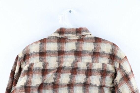 80s Rockabilly Mens Medium Double Pocket Quilt Li… - image 6