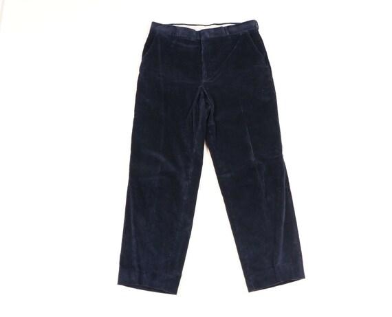 70s Rockabilly Mens 34x29 Straight Leg Faded Cord… - image 1