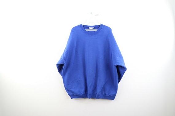 90s Streetwear Mens 2XL Boxy Fit Blank Crewneck Sw