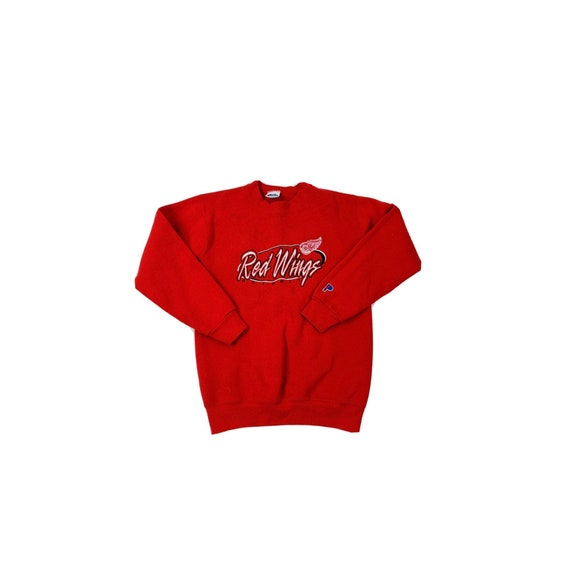 90s Women XS Detroit Red Wings Stitched Crewneck S