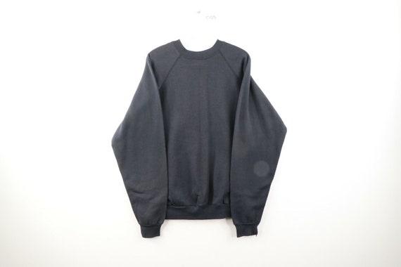 NOS 90s Streetwear Mens Large Blank Crewneck Sweat