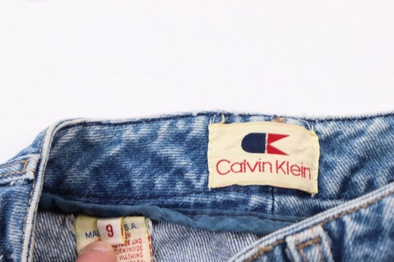 80s Calvin Klein Womens 9 Distressed Faded Straig… - image 6