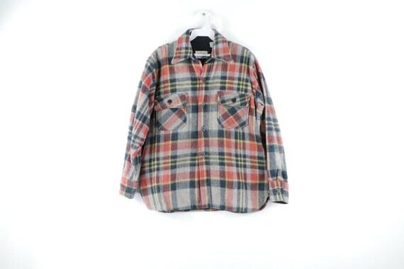 70s Rockabilly Mens Medium CPO Double Pocket Wool