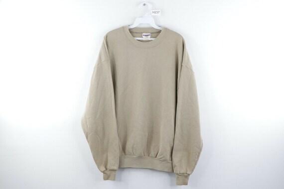 90s Streetwear Mens XL Blank Distressed Faded Crew