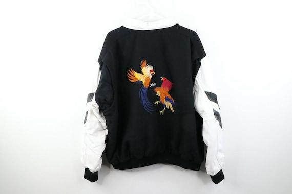 90s Streetwear Mens XL Phoenix Birds Leather Varsi
