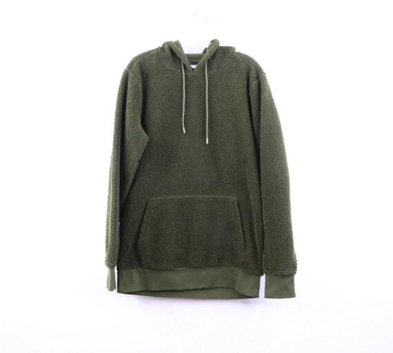 90s Streetwear Mens Small Blank Deep Pile Fleece H