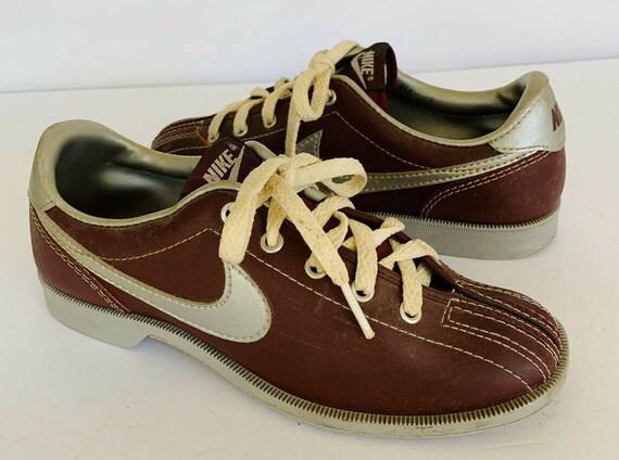 Vintage Nike 6 Bowling Shoes, Vintage Gray Tag Nik