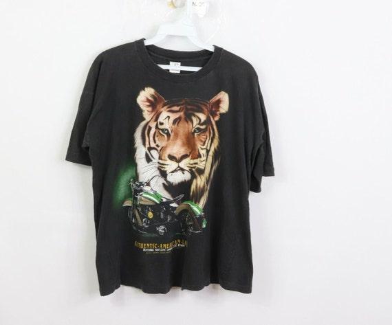 90s Streetwear Mens Small Tiger Motorcycle Spell O