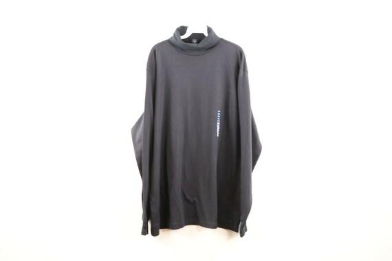 NOS 90s Streetwear Mens 2XL Long Sleeve Blank Turt