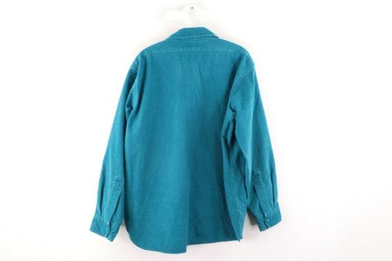 80s LL Bean Mens 16.5 Double Pocket Chamois Cloth… - image 5