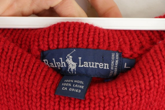 80s Ralph Lauren Womens Large Spell Out Crest Dou… - image 5