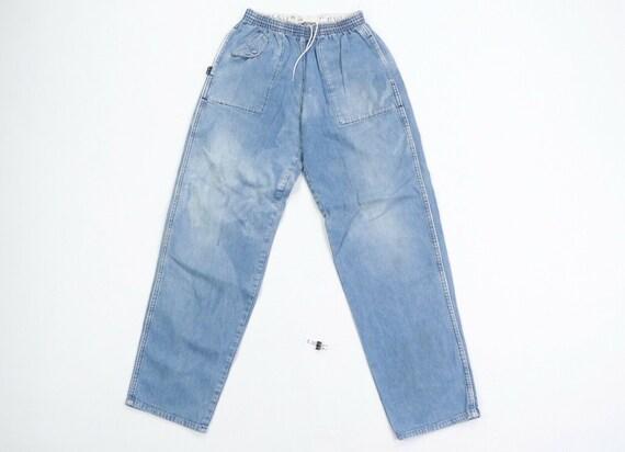 80s Ralph Lauren Mens Medium Elastic Waist Tapere… - image 1