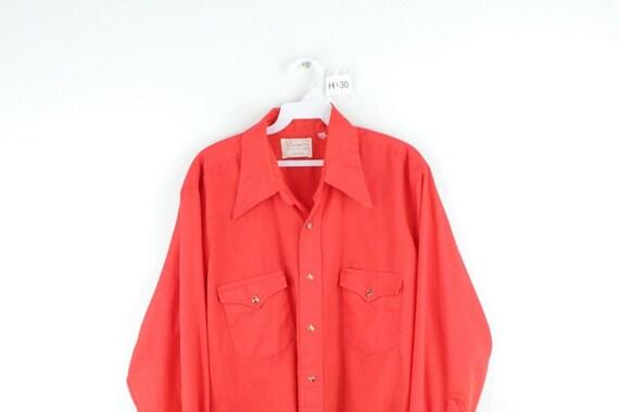 70s Wrangler Mens Medium Double Pocket Long Sleev… - image 2