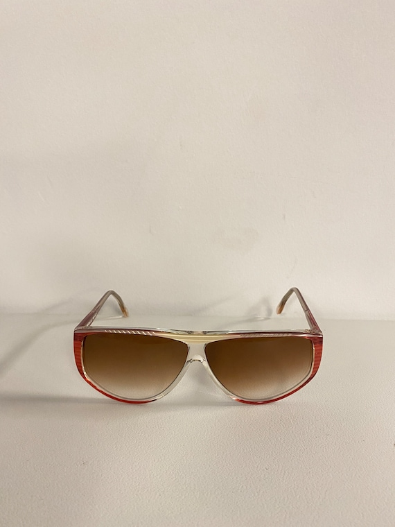 90s NOS Deadstock Clear Pink Acetate Sunglasses R… - image 2