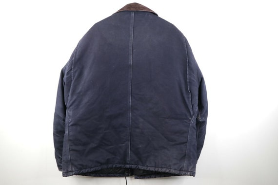 90s Carhartt Mens 2XL Spell Out Corduroy Collar D… - image 9