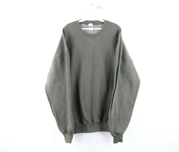 90s Russell Athletic Mens XLT Blank Crewneck Sweat