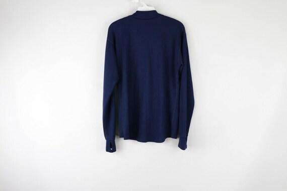 90s LL Bean Mens Large Long Sleeve Half Zip Therm… - image 6