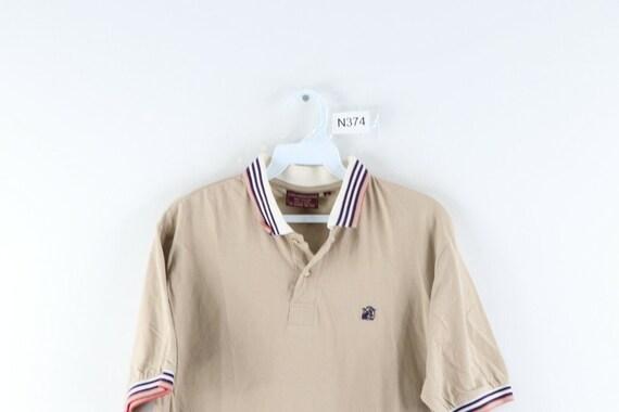 80s Chaps Ralph Lauren Mens Large Striped Short S… - image 2