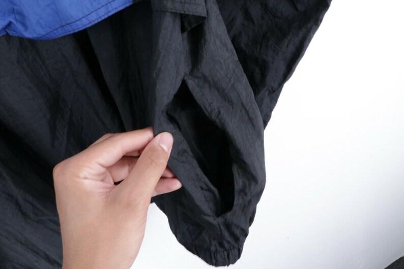 1980s Wind Coat 80s Streetwear Mens XL Color Block Full Zip Nylon Windbreaker Jacket 1980s Windbreaker Jacket Vintage Color Block Jacket