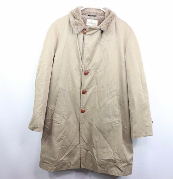 70s Zero King Mens Size 44 Faux Shearling Lined Ov