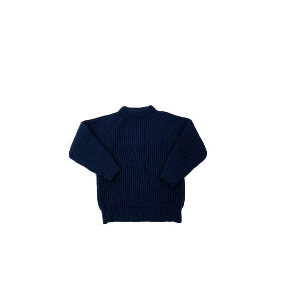 70s Rockabilly Womens Small Wool Chunky Knit High
