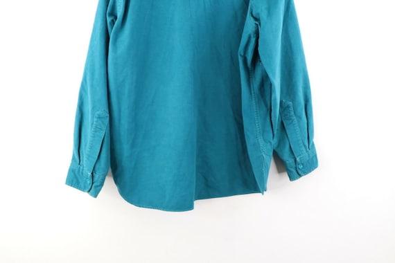 80s LL Bean Mens 16.5 Double Pocket Chamois Cloth… - image 7