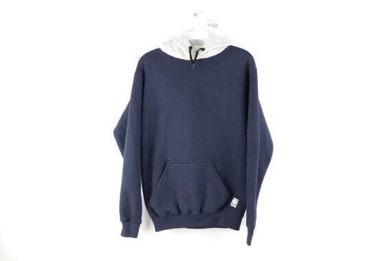 80s Streetwear Mens Small Distressed Blank Hoodie