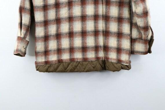80s Rockabilly Mens Medium Double Pocket Quilt Li… - image 7