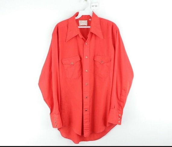 70s Wrangler Mens Medium Double Pocket Long Sleeve