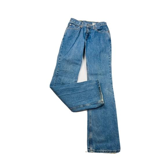 90s Levis 517 Juniors 11 Slim Fit Bootcut Faded De