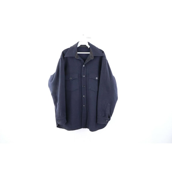 60s Woolrich Mens Large Wool Double Pocket CPO Shi