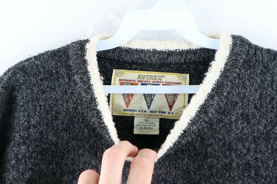 90s Avirex Varsity Mens XL Wool Acrylic Knit Spel… - image 7