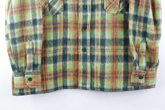 60s Mens Large Wool Double Pocket Multi-Color Pla… - image 4